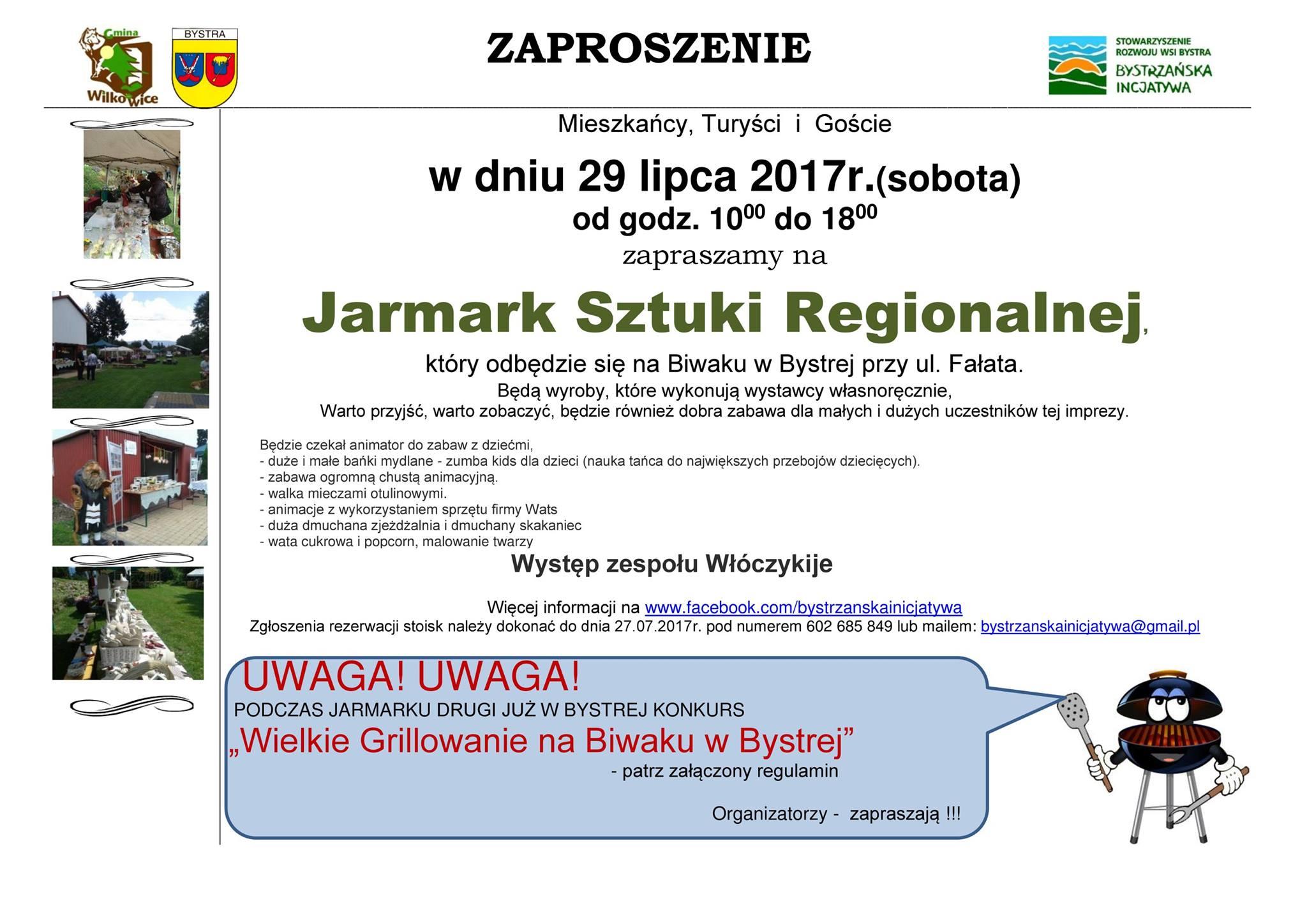 Jarmark Sztuki Regionalnej 29 lipca 2017r.(sobota)